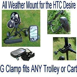 Buybits Flexible Golf Wagen Klammer Halter + Wasserdichte Schutzhülle HTC Desire