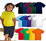 5 Fruit of the loom Kinder T Shirts 104 116
