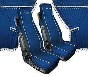 LAMPA - Melissa, set tende e coprisedili in microfibra per camion - Blu