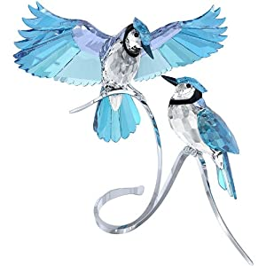 Swarovski Crystal Paradise Pair of Blue Jays Figurine