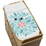 Baby Changing Pad Cover For Modern Turquoise And Coral Emma Collection