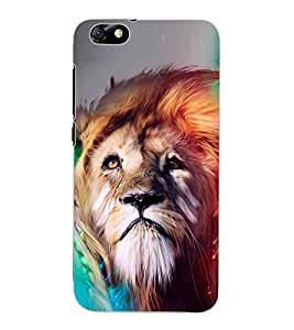 ColourCraft Lion Look Art Design Back Case Cover for HUAWEI HONOR 4X