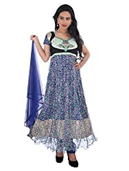Diva Fusion Womens Net Anarkali Semi-Stitched Dress Material (Dfa168 _Multi-Coloured)