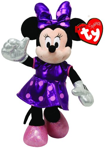 Ty Beanie Babies Minnie Purple Sparkle Plush - 1