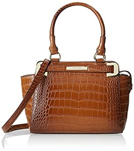 Anne Klein Hear Me Roar 60339113 Top Handle Satchel,Sienna Brown,One Size