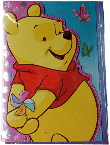 Disney Winnie Pooh und Freunde Geburtstagskarte mit Glitzereffekt