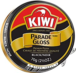 Kiwi Large Parade Gloss Black Shoe Polish (2.5 oz.) (104-011)