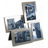 "Umbra Lira Multi-Picture Frame Holds 4, 4""x6"" Photos- Nickelby Umbra"