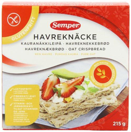 Semper GF Oat Crispbread 215 g (Pack of 2)