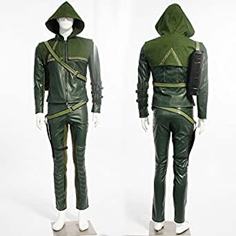 HOLRAN Green Arrow Man Oliver Queen Cosplay