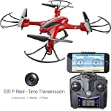 Holy-Stone-HS200W-FPV-RC-Drone-with-HD-Wifi-Camera-Live-Feed-24GHz-4CH-6-Axis-Gyro-Quadcopter-with-Altitude-Hold-Gravity-Sensor-and-Headless-Mode-RTF-Helicopter