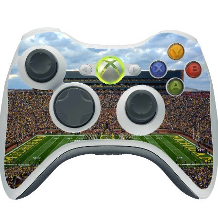 College Football Stadiums Xbox 360 Wireless Controller Vinyl Decal Sticker Skin by Compass Litho (Ncaa Football 10 Xbox 360 compare prices)