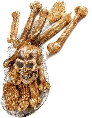 Bag of bones prop skeleton remains halloween for Bag of bones halloween decoration