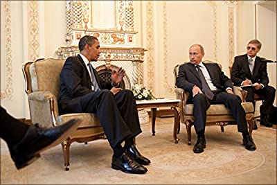 24x36 Poster; United States President Barack Obama Meets With Russian Prime Minister Vladimir Putin At His Dacha Outside Moscow, Russia On 7 July 2009