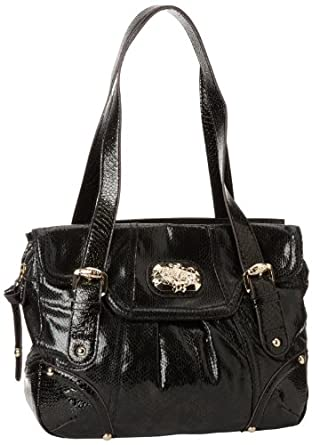 KATHY Van Zeeland Snake Charmer Shoulder Bag,Black,One Size