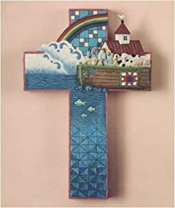 Jim Shore Large Noah's Ark Cross Wall Decor (Heartwood Creek)