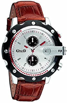 D&G DW0365 Gents Sean Chronograph Brown Strap Watch
