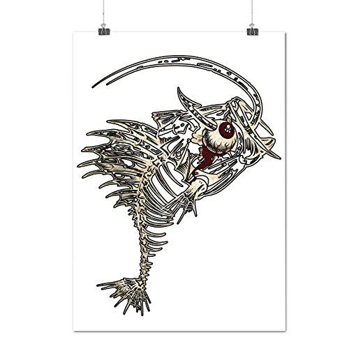 Monstre Pêche Appât OS Capture Matte/Glacé Affiche A2 (60cm x 42cm) | Wellcoda