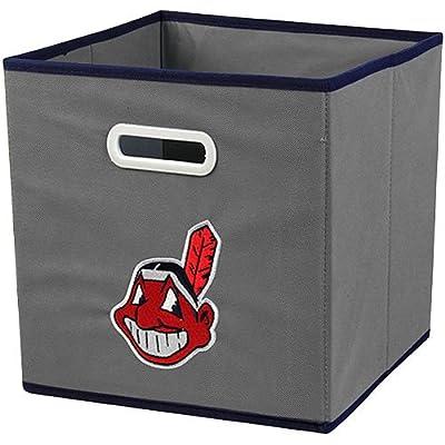 MLB Cleveland Indians Fabric Storage Drawer, One Size, Gray