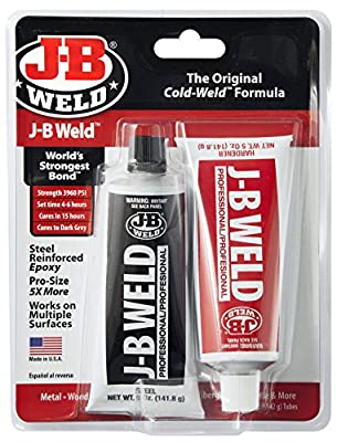 J-B Weld 8281 Original Professional Size Steel Reinforced Epoxy Twin Pack - 10 oz