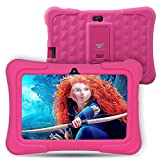 Dragon Touch Y88X Plus 7 inch Kids Tablet 2017 Disney Edition, Quad Core CPU, Android 5.1 Lollipop, IPS Display, Kidoz Pre-Installed w/ Bonus Disney Content (more than $60 Value) Games App and Audio Book, New Silicone Bumper w/ Adjustable Stands-Pink