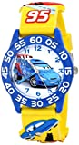 Disney Kids' W001507 Time Teacher Disney Cars Watch With Yellow 3-D Rubber Band