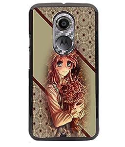 Printvisa 2D Printed Girly Designer back case cover for Motorola Moto X2 - D4369