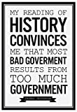 Too Much Government Thomas Jefferson b/w Poster 13 x 19in