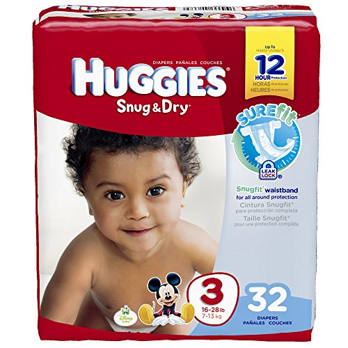 Huggies Snug and Dry Diapers - Size 3 - 32 ct - 1