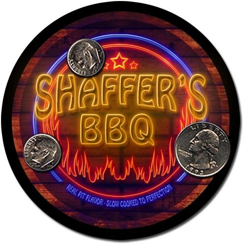 Shaffer'S Barbeque Drink Coasters - 4 Pack