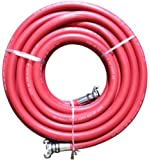 "JGB Eagle Red Jackhammer Rubber Air Hose, 3/4"" Universal (Chicago) Couplings, 50' Length"
