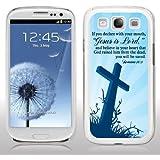 Samsung Galaxy S3 Case - Christian Theme - Romans 10:9 - White Protective Hard Case