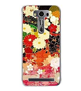 Flower Pattern 2D Hard Polycarbonate Designer Back Case Cover for Asus Zenfone Selfie ZD551KL