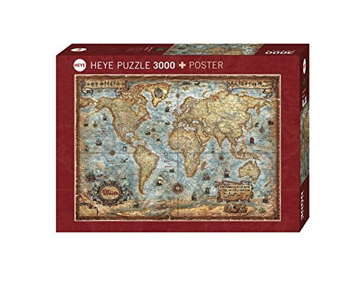 Heye 29275 - Standardpuzzles 3000 Teile The World,