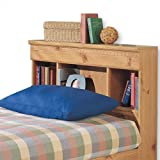 New Visions by Lane 497-435 Twin Size Storage Headboard, Mountain Pine Laminate
