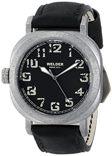 Welder K19 503 - Reloj de pulsera unisex, piel, color negro