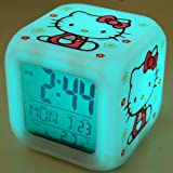 Hello Kitty Desk Alarm Clock Thermometer Glow