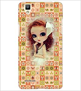 PrintDhaba Sweet Doll D-3159 Back Case Cover for OPPO F1 (Multi-Coloured)