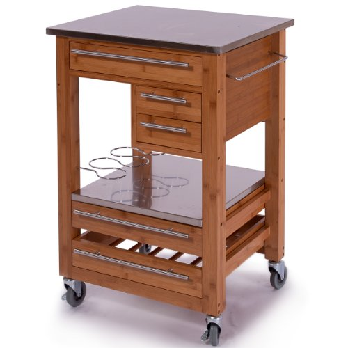 Image of Getty Wooden Kitchen Island (B006WRYMDQ)