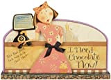 Carson Home Accents 19829 Chocolate Now Dan Dipole Message Bar, 9 1/3 Inch By 8 1/2 Inch