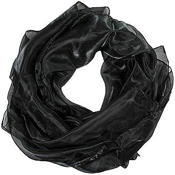 Women weddings bridal evenings wear shinning scarves (Black)