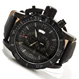 Invicta Mens Corduba Combat Chronograph Black IP Stainless Steel Case Strap Watch 11179