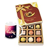 Chocholik Luxury Chocolates - Classic Combination Of White Chocolates With Birthday Mug