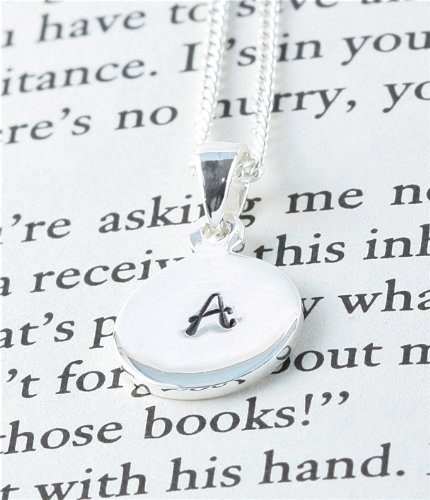 Hand Stamped Sterling Silver Pendant - Initial A