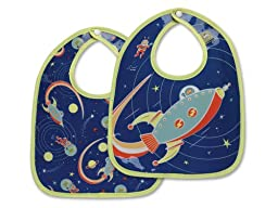 Sugarbooger Mini Bib Gift Set, Outerspace, 2 Count