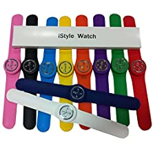 buy Istyle® Slap On Silicone Watch Quartz Sports Watch Kid Woman Man Unisex 10 Colors For Choosing-Pink