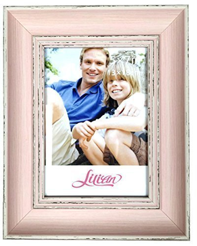 Lilian PC pink photo frames(5 x 7in), Choose PS polymer material environmental protection(3175-C2T-b) (Pink Picture Frame compare prices)