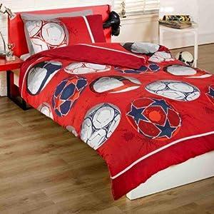 Football parure de lit housse de couette 135 x 200 cm for Housse couette football