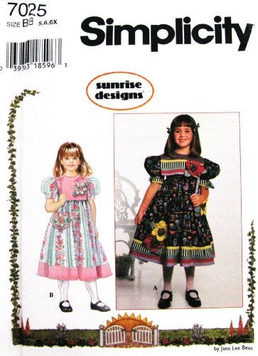 Simplicity Sewing Pattern 7025 Little Girl Dress & Matching Purse ~ front-836123
