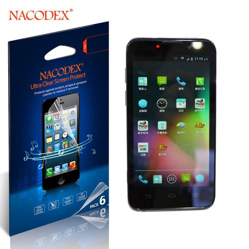 Nacodex® 6X Hd Clear Screen Protector Film For Zte Boost Warp 4G N9510 Lcd Cover Guard Shield [ 6Pcs Screen Protectors + 2X Cleaning Cloth + 1X Smoothing Card] [ W/Tracking No.]